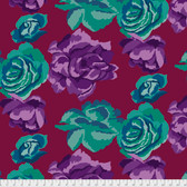 Kaffe Fassett PWGP164 Rose Clouds Maroon Cotton Fabric By The Yard