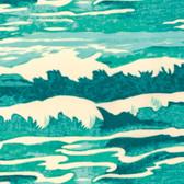 Tokyo Milk Neptune & The Mermaid PWTM010 Oceanus Aqua Fabric By Yd