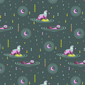 Tula Pink PWTP102 Spirit Animal Otter & Chill Lunar Glow Cotton Fabric By Yard