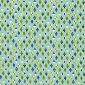 Tula Pink PWTP090 Slow & Steady Track Flags Blue Raspberry Fabric By Yard