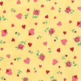 Verna Mosquera Love & Friendship PWVM167 Heartfelt Butter Fabric By Yd