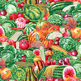 Snow Leopard English Garden PWSL052 Vegetable Garden Spring Cotton Fabric By Yd