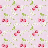 Tanya Whelan Rambling Rose PWTW134 Cherries Pink Cotton Fabric By Yard