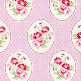 Tanya Whelan Rambling Rose PWTW135 Granny's Wallpaper Pink Cotton Fabric By Yd