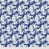 Tanya Whelan Gazebo PWTW151 Gazebo Toile Blue Cotton Fabric By The Yard