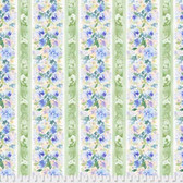 Natalie Malan Crisp Petals PWNM008 Garland Delphinium Cotton Fabric By Yd
