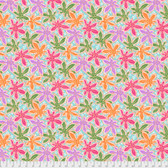 Philip Jacobs PWPJ093 Lacy Leaf Pastel Cotton Quilting Fabric By Yard