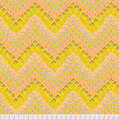Kaffe Fassett PWGP167 Trefoil Yellow Cotton Quilting Fabric By Yard