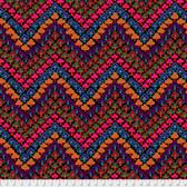 Kaffe Fassett PWGP167 Trefoil Dark Cotton Quilting Fabric By Yard