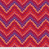 Kaffe Fassett PWGP167 Trefoil Red Cotton Quilting Fabric By Yard