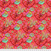 Tula Pink PWTP116 All Stars Tail Feathers Poppy Cotton Fabric By Yard