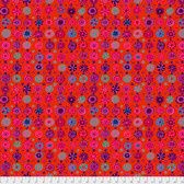 Kaffe Fassett PWGP166 Whirligig Tomato Cotton Quilting Fabric By The Yard
