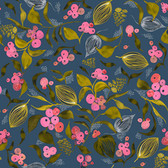 Shannon Newlin Floral Waterfall PWSN002 Blackberry Soft Cotton Fabric By Yd