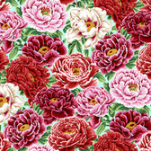 Snow Leopard English Garden PWSL053 Garden Peony Spring Cotton Fabric By Yd
