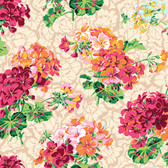 Snow Leopard English Garden PWSL055 Pelargoniums Spring Cotton Fabric By Yd