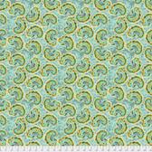 Tina Givens PWTG190 Piecemeal Raisin Fest Aqua Cotton Fabric By Yd