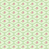 Tanya Whelan PWTW146 Charlotte Cherry Blossom Green Cotton Quilting Fabric By Yd