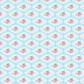 Tanya Whelan PWTW146 Charlotte Cherry Blossom Blue Cotton Quilting Fabric By Yd