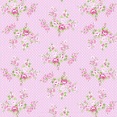 Tanya Whelan PWTW147 Charlotte Spring Bouquet Pink Cotton Quilting Fabric By Yd