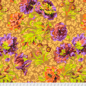 Philip Jacobs PWPJ090 Baroque Floral Brown Cotton Quilting Fabric By Yard