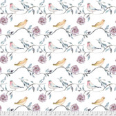Shell Rummel Bloom Beautiful PWSR017 Birdsong Wisteria Cotton Fabric By Yd