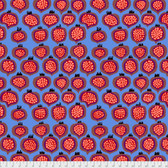 Brandon Mably PWBM067 Pomegranate Blue Quilting Cotton Fabric By The Yard