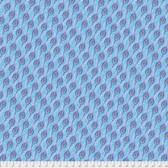 Corinne Haig PWCH014 Peacock Paradise Feathered Indigo Cotton Fabric By Yd