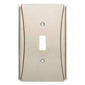 W32771SN Upton Satin Nickel Single Switch Cover Plate