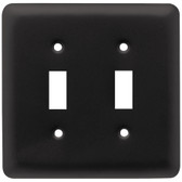 W10246-FB Flat Black Stamped Steel Double Switch Cover Plate