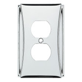 Brainerd W35391-PC Upton Polished Chrome Single Duplex Outlet Cover Plate