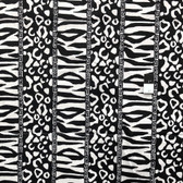 Genuine African Printex Black & White Collection Safari Cotton Fabric By Yard