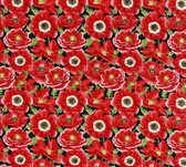 Henry Glass 1194 Poppy Perfection Lg Packed Poppy Quilting Fabric By Yd