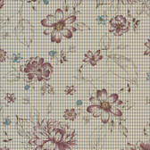 Henry Glass 8918 My Back Porch Check Flowers Gray Quilting Fabric By Yd