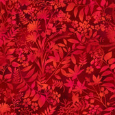Studio E 3912-88 Aflutter Wildflower & Fern Red Cotton Quilting Fabric By Yard