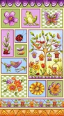 """Blank Quilting 8679-11 Garden Glory 24"""" Panel Lt Blue Cotton Fabric By Yard"""