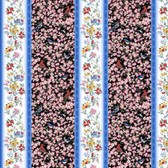 Blank Quilting 9009-99 Birds Of A Feather Stripes Black Fabric By Yard