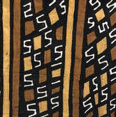 "25269 African Mali Mud Cloth Bambara Bogolanfini Multi Color Aprox 45"" x 63"""