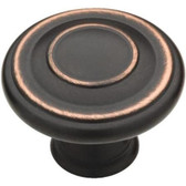 "Liberty P24423W-VBC 1 3/8"" Jackson Cabinet Drawer Knob Bronze & Copper 10 Pack"