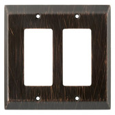 126390 Venetian Bronze Stately Double GFCI Cover Wall Plate