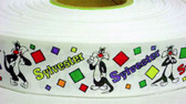 "Looney Toons Sylvester Grograin Ribbon 10 Yd  1 1/2"" Wide"