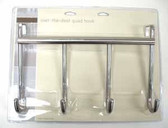085-03-3807  Over The Door Hook Coat Hat Hook Rail Satin Nickel