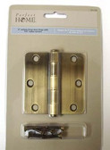 "HN0023P-AB-C 3""  1/4"" Radius Antique  Brass Door Hinge"