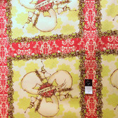 Tina Givens PWTG133 Starflakes & Glitter Polar Bear Express Red Cotton Fab By Yd