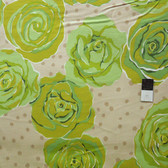 Valori Wells FVW15 Urban Flannels Roses Green Flannel Fabric By Yd
