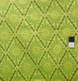 Valori Wells FVW11 Urban Flannels Floral Diamonds Green Flannel Fabric By Yd