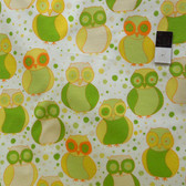 Valori Wells FVW17 Della Little Owls Sun Flannel Fabric By Yd