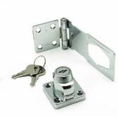 "B5130 3 1/2"" Keylocking Hasp  Zinc Plated"