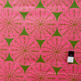 Victoria and Albert PWVA013 Garthwaite Medallion Pink Fabric By Yard
