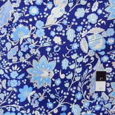 Dena Designs LIDF009 Sunshine Bellflower Navy Linen Fabric By Yard