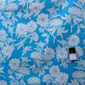 Valori Wells PWVW053 Novella Peony Teal Cotton Fabric By The Yard